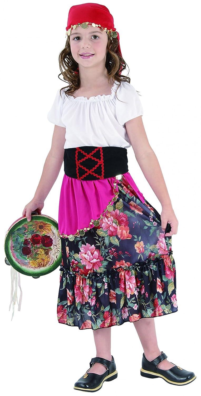 Desconocido Disfraz de gitana para niña: Amazon.es: Juguetes y juegos