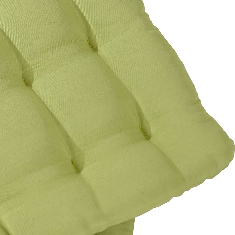 4x coussin Canberra coussins de chaise 43x41x3cm ~ crème
