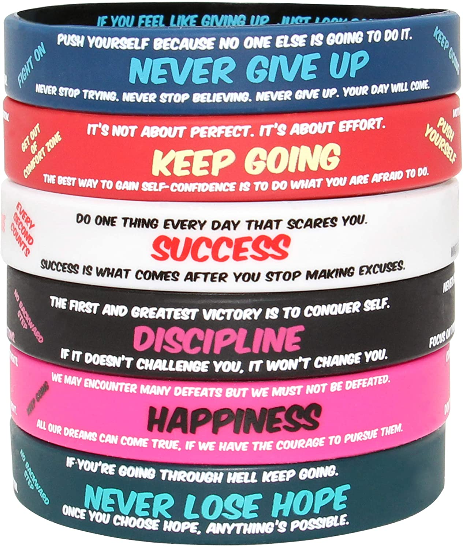 Unisex Sports Party Decoration Universal Bracelet 10Pcs N-A Silicone Wristband Multicolor