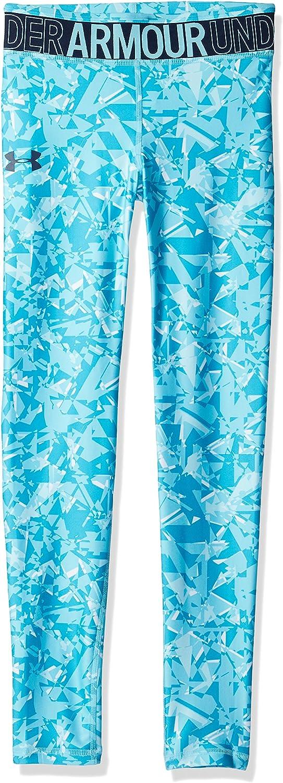 Blau Under Armour M/ädchen Armour HeatGear Printed Ankle Crop Capri YSM
