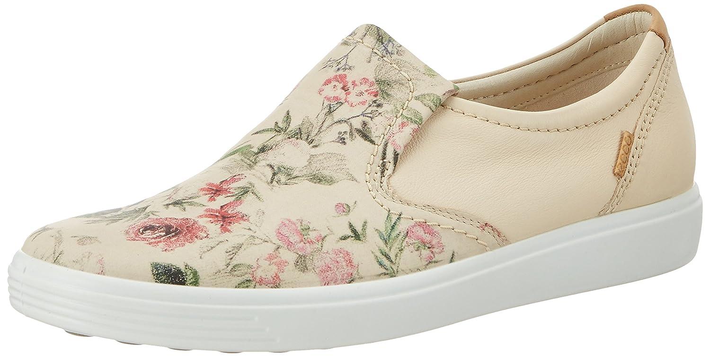 ECCO Women's Soft 7 Slip-on Sneaker B01I6FZXYI 39 EU/8-8.5 M US|Multicolor/Limestone/Powder