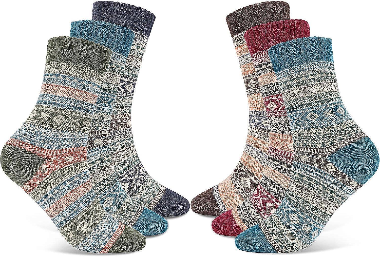 Atmungsaktiv Weihnachten Socken Damen Warme Wintersocken mit Geschenkbox Weihnachtsgeschenk Socken Kuschelsocken f/ür die Weihnachtszeit Joyibay 4 Paare Weihnachtssocken