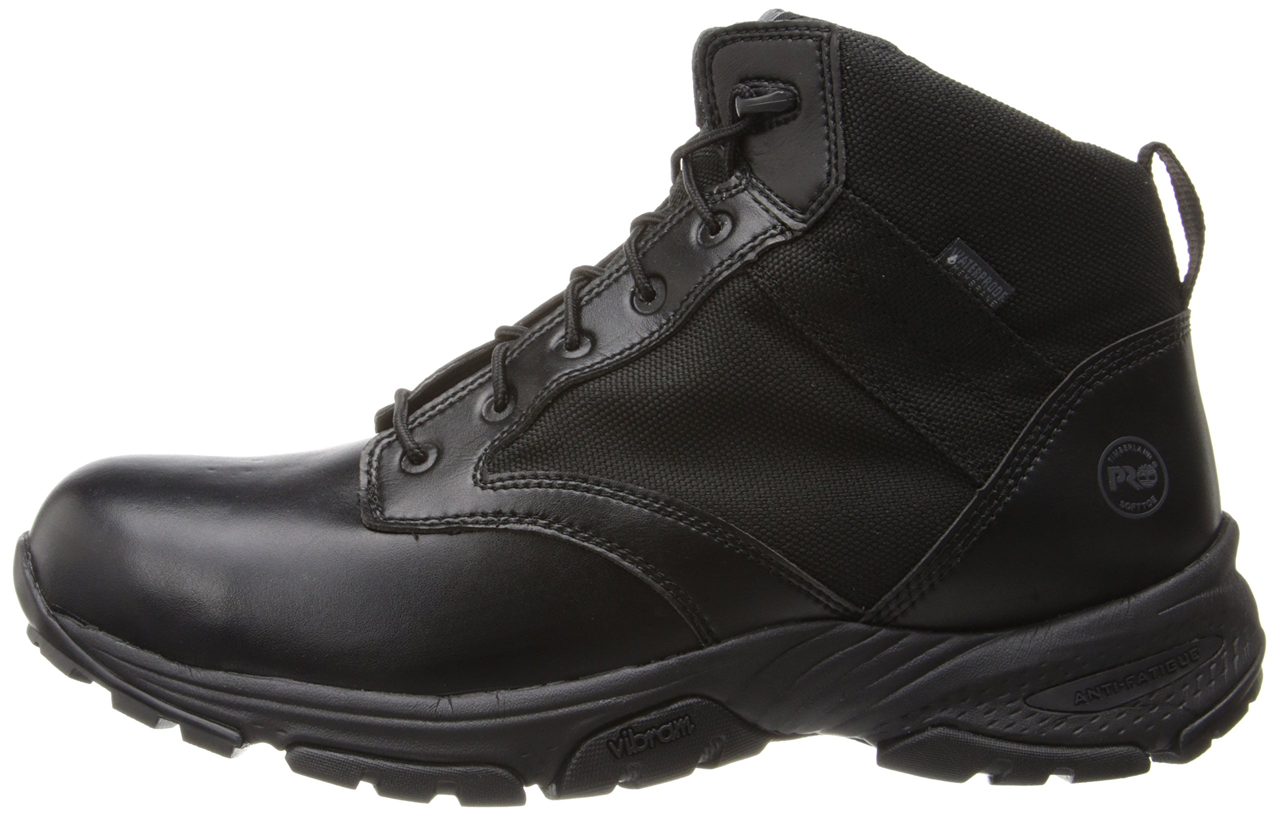 Timberland PRO Men's 5 Inch Valor Soft Toe Waterproof Duty Boot,Black Smooth With Textile,11.5 M US by Timberland PRO (Image #5)
