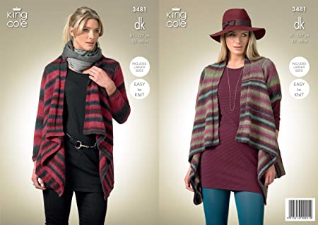 27253542a Image Unavailable. Image not available for. Colour  King Cole Ladies Long   Short  Sleeved Cardigans Riot DK Knitting Pattern 3481