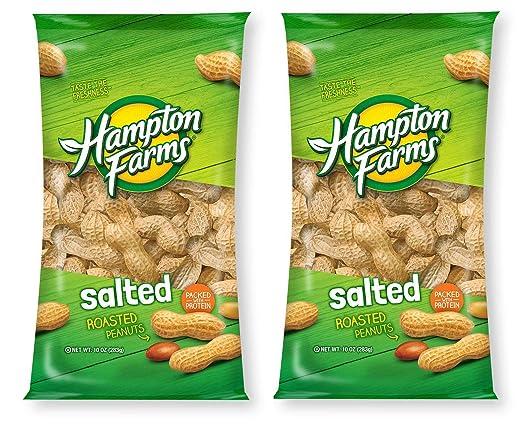 Peanuts - Hampton para granjas de cáscara salada y asada en ...