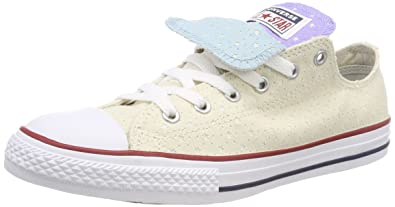 b31f1136eb Amazon.com | Converse Youth CTAS Double Tongue Ox Canvas Trainers ...