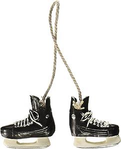 Abbott Collection Resin Hockey Skates Ornament, Black