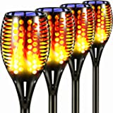 Topmante Upgraded Solar Torch Lights, Super Bright LED Waterproof Flickering Dancing Flames Torches Light Outdoor Solar Lands
