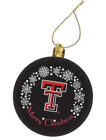 Texas Tech University Holiday Christmas Ornament, Design 6 - Black - Amazon.com : Texas Tech University Holiday Christmas Ornament