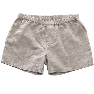 Linoto 100% Linen Boxer Shorts at Amazon Men s Clothing store  966ab9e4b