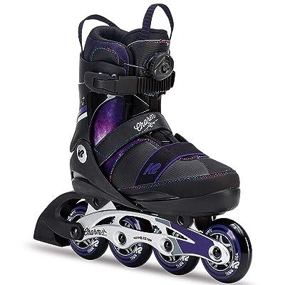 K2 Skate Charm Boa Alu Inline Skates, Black Purple, Size 1-5 : Sports & Outdoors