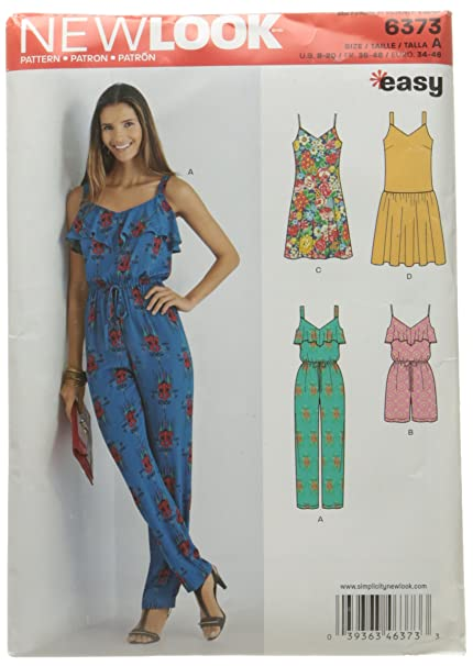 3107d5699c0 New Look 6373 Size A Misses  Jumpsuit or Romper and Dresses Sewing Pattern