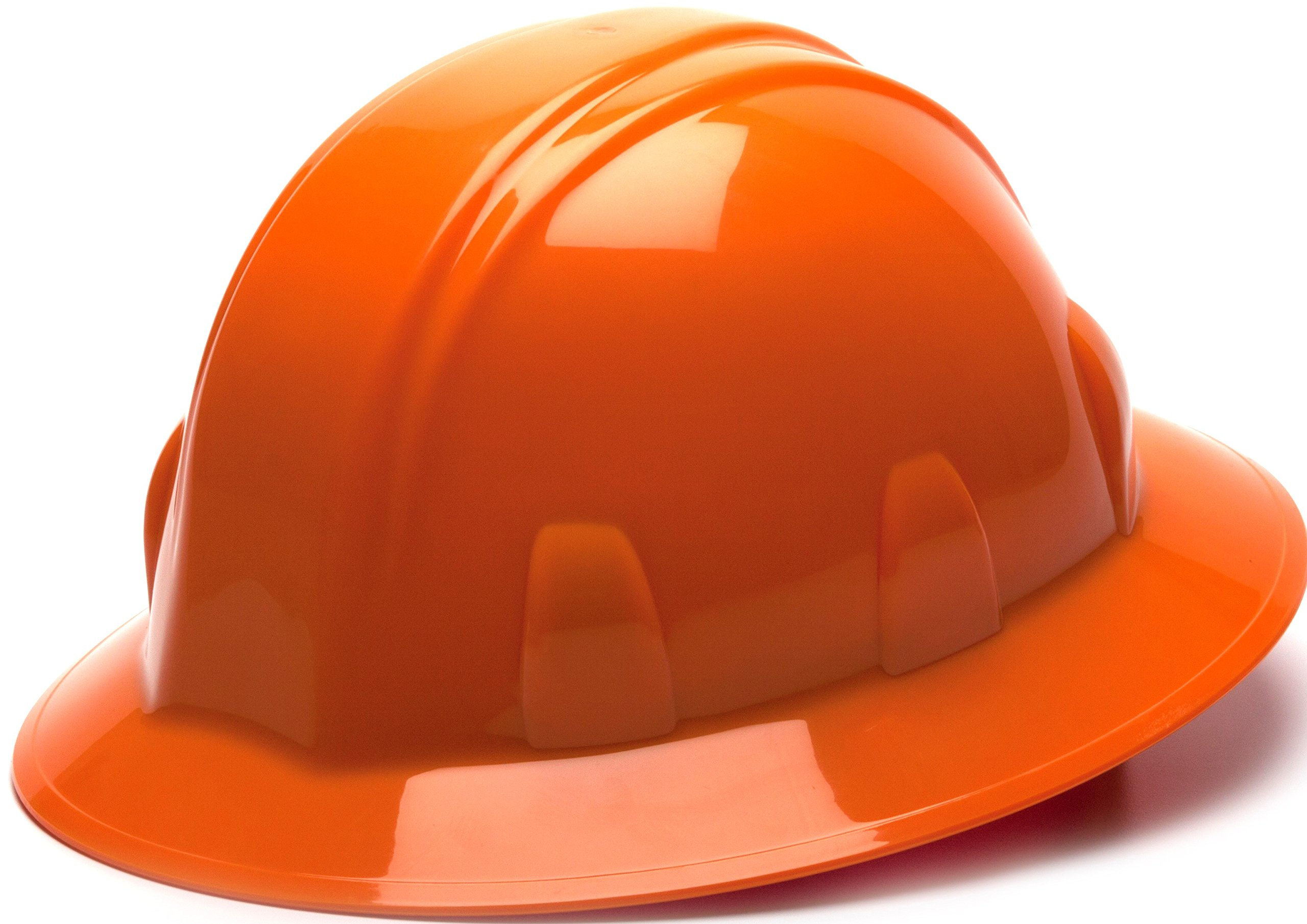 Pyramex Orange Full Brim Style 6 Point Ratchet Suspension