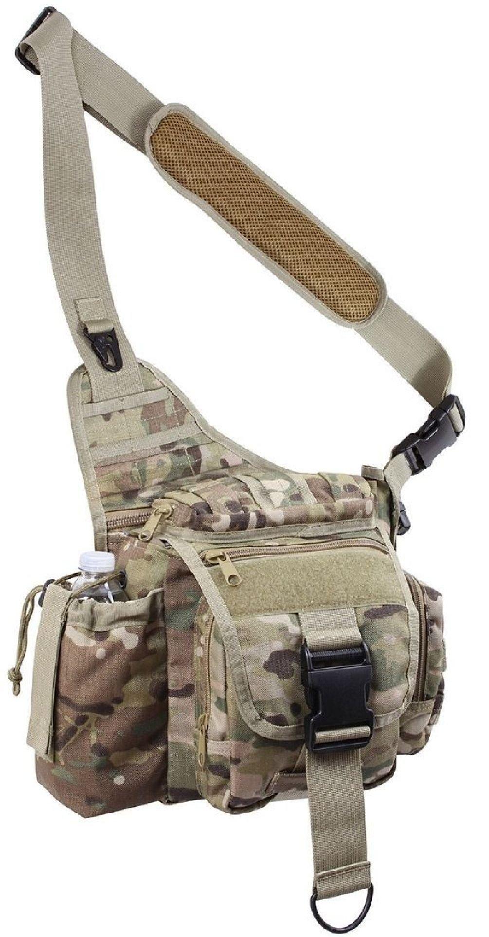 Camouflage Lightweight Molle Advanced Tactical Travel Shoulder Bag