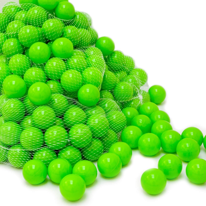 LittleTom 50 Baby Bällebad Bälle 5,5 cm Kinder Bällchenbad Plastikbälle Gold