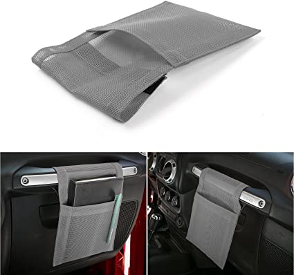 2014-2018 Jeep Renegade Voodonala Pink Co-Pilot Handle Hanging Storage Bags for 2007-2018 Jeep Wrangler JK JKU JL JLU