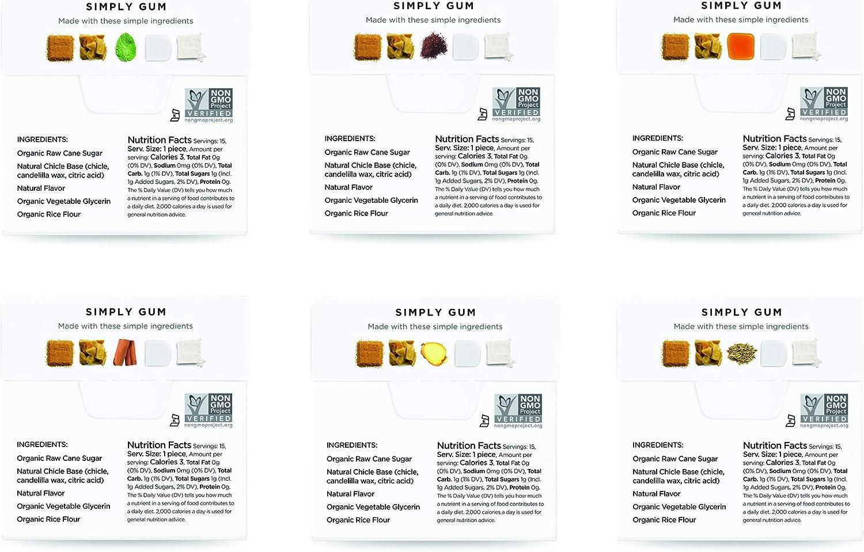 Simply Gum | Chicle de Canela | Natural, Vegetariano, y no GMO ...