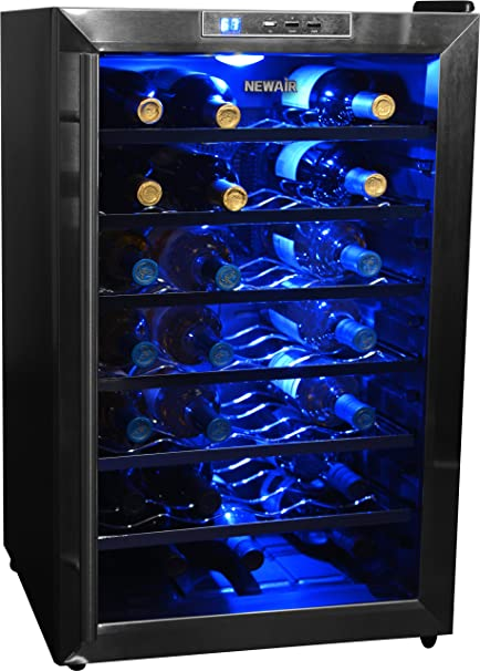 NewAir AW-181E Streamlined 18 Bottle Thermoelectric Wine Cooler, Stainless
