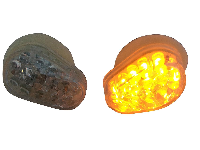 Coppia Carenatura Da incasso Montaggio Marchio E frecce LED per motociclette Trasparente Lente Alchemy Parts Ltd