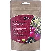 LOOV Organic Wild Cranberry en polvo, 100% fruta de arándano orgánico, liofilizada y en polvo Arándanos silvestres…