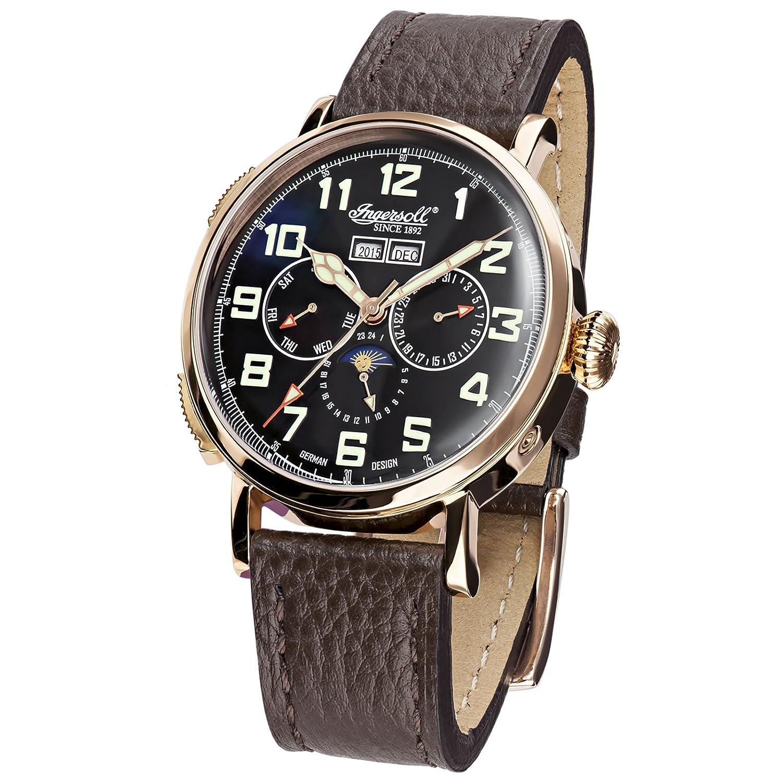 Ingersoll IN1917RBK Armbanduhr - Braun Lederband