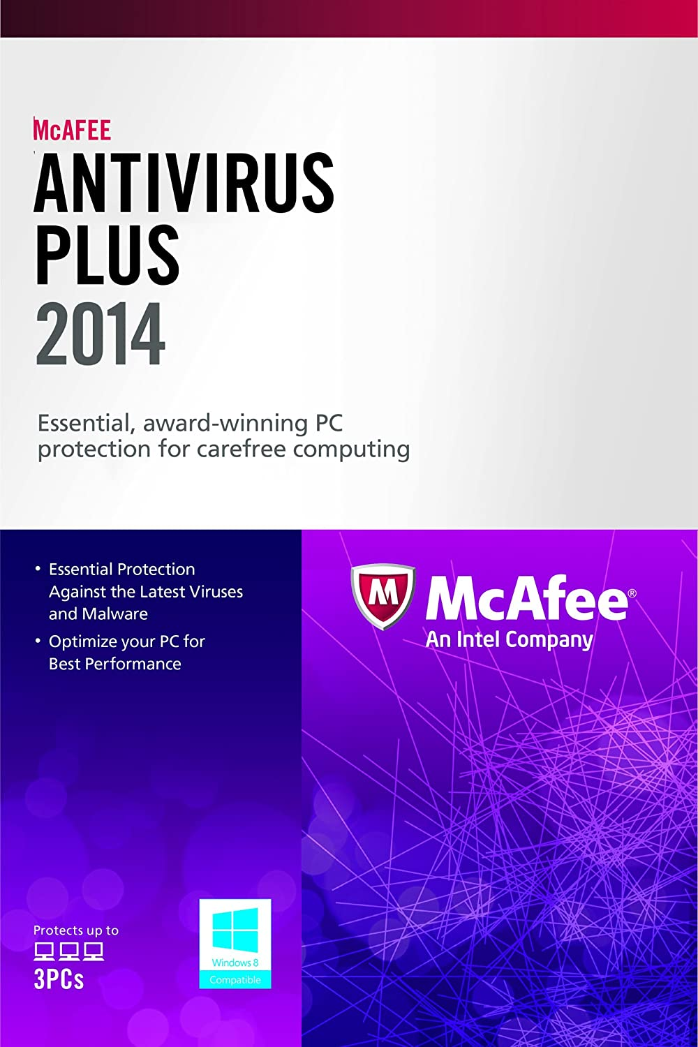 Amazon Com Mcafee Antivirus Plus 3pc 2014 Free Upgrade To 2016 After Activation Software