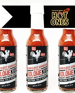 product image for Adoboloco Hot Sauce Kolohekid Hawaiian Spicy Sauce (3-Pack) Hot Ghost Pepper Chili Sauce - Featured on Hot Ones!