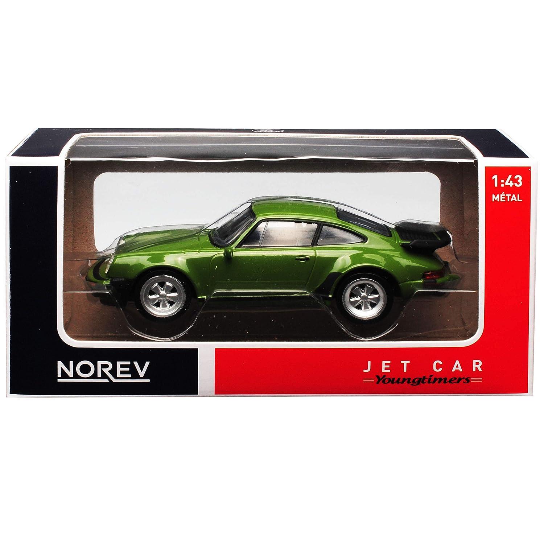 Norev Porsche 911 930 Turbo 3.3l G-Modell Coupe Gruen 1973-1989 1//43 Modell Auto mit individiuellem Wunschkennzeichen
