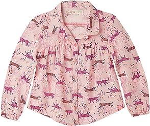 OFFCORSS Toddler Girl Long Sleeve Colored Shirt Blouse | Camisa Casual para Niña