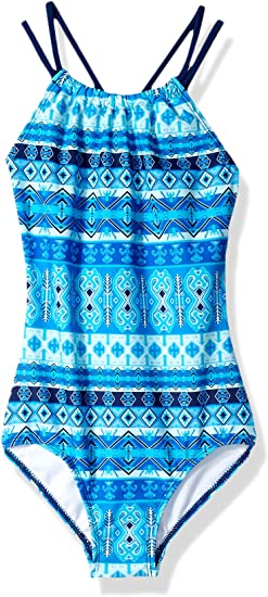 Kanu Surf Girls' Jasmine Beach Sport Halter One-Piece Swimsuit