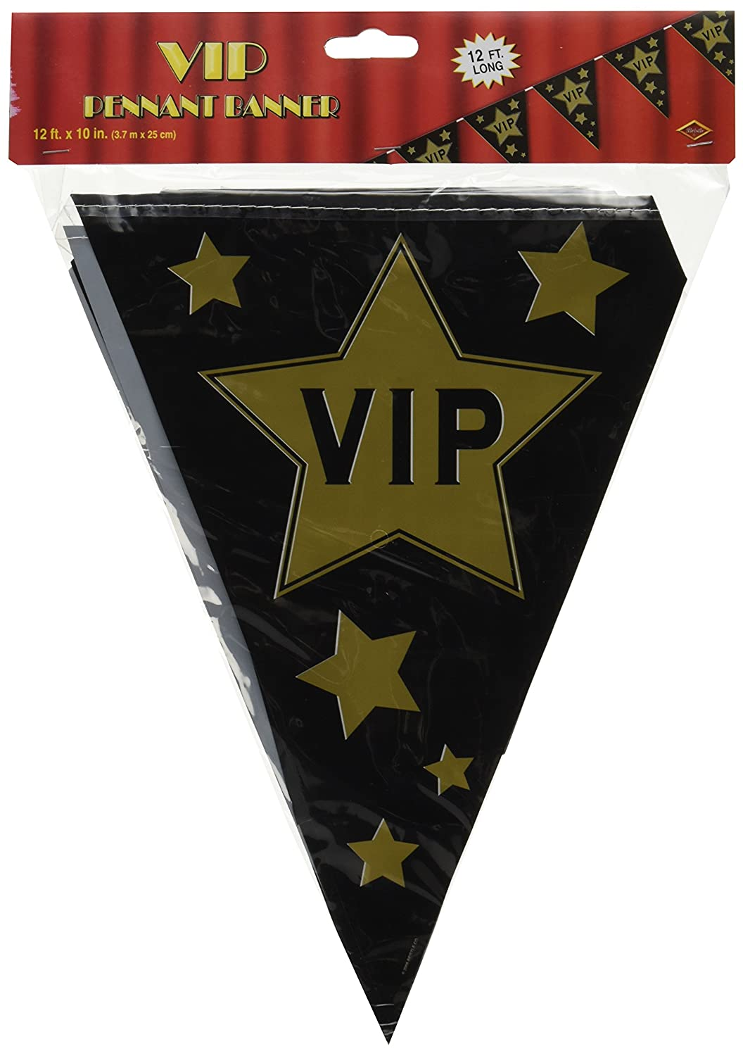 Beistle 57513 1-Pack VIP Pennant Banner The Beistle Company