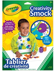 Crayola Creativity Smock, School and Craft Supplies, Gift for Boys and Girls, Kids, Ages 3,4, 5, 6 and Up, Arts and Crafts,  Gifting