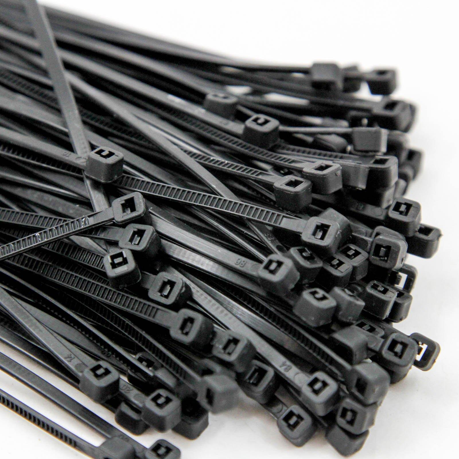 500 Heavy Duty 14'' 120 Pound Cable Zip Tie Down Strap Wire Nylon Wrap Black