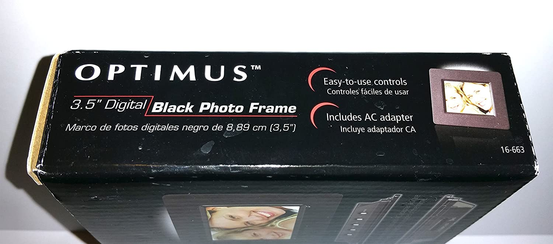 Amazon.com : Optimus 3.5-inch LCD Digital Picture Frame - Black ...