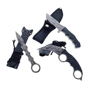 Amazon.com: Falcon CSGO Juego de cuchillos tácticos de hoja ...