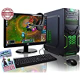 ADMI GAMING PC PACKAGE: Powerful Desktop Computer, 21.5 Inch 1080p Monitor, Keyboard & Mouse Set (AMD Kaveri A8-7650K 3.8GHz Radeon R7 Quad Core APU Processor, USB 3.0, 500W PSU, 1TB Hard Drive, 8GB RAM, 24 x DVDRW Drive, Wifi, Goblin Gaming Case, Pre-Installed with Windows 10 Operating System)