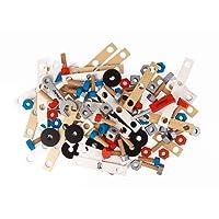 Janod - Brico'Kids Barile Bricolage di Legno per Bambini, 50 pezzi, J06480