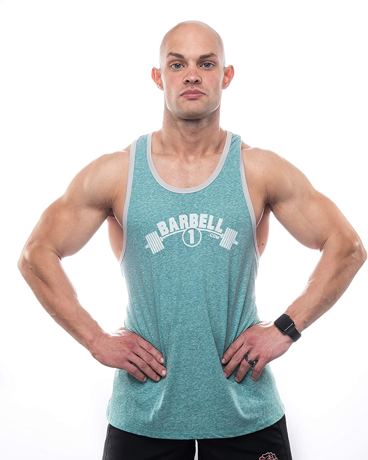 f39be156ef5fe Amazon.com: Barbell 1 Bodybuilding Muscle Stringer Y Back Tank Top, Lifting  Shirt for Gym: Clothing