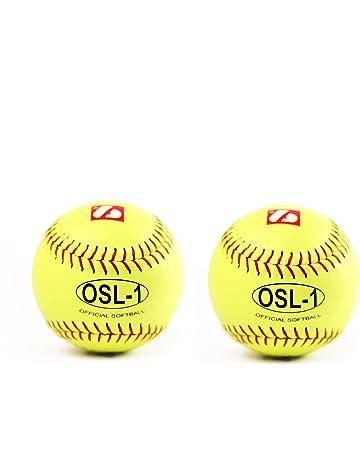 Pelotas de alta competici/ón para softball OSL 1, 2 unidades color amarillo Barnett