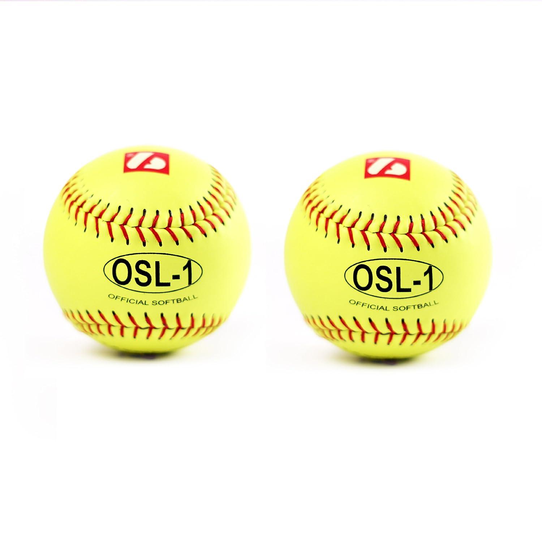 OSL-1 palla da competizione softball, t 12'', c giallo 2 pz t 12'' barnett OSL-2