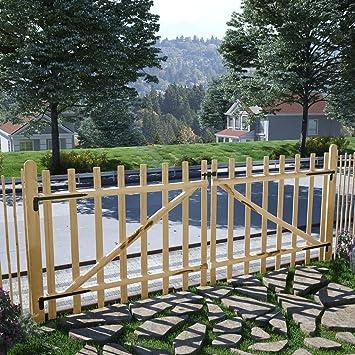 Xingshuoonline Barrera de jardín de 300 x 120 cm, doble valla puerta Hazel madera jardín puerta puede soportar todas las condiciones meteorológicas: Amazon.es: Bricolaje y herramientas