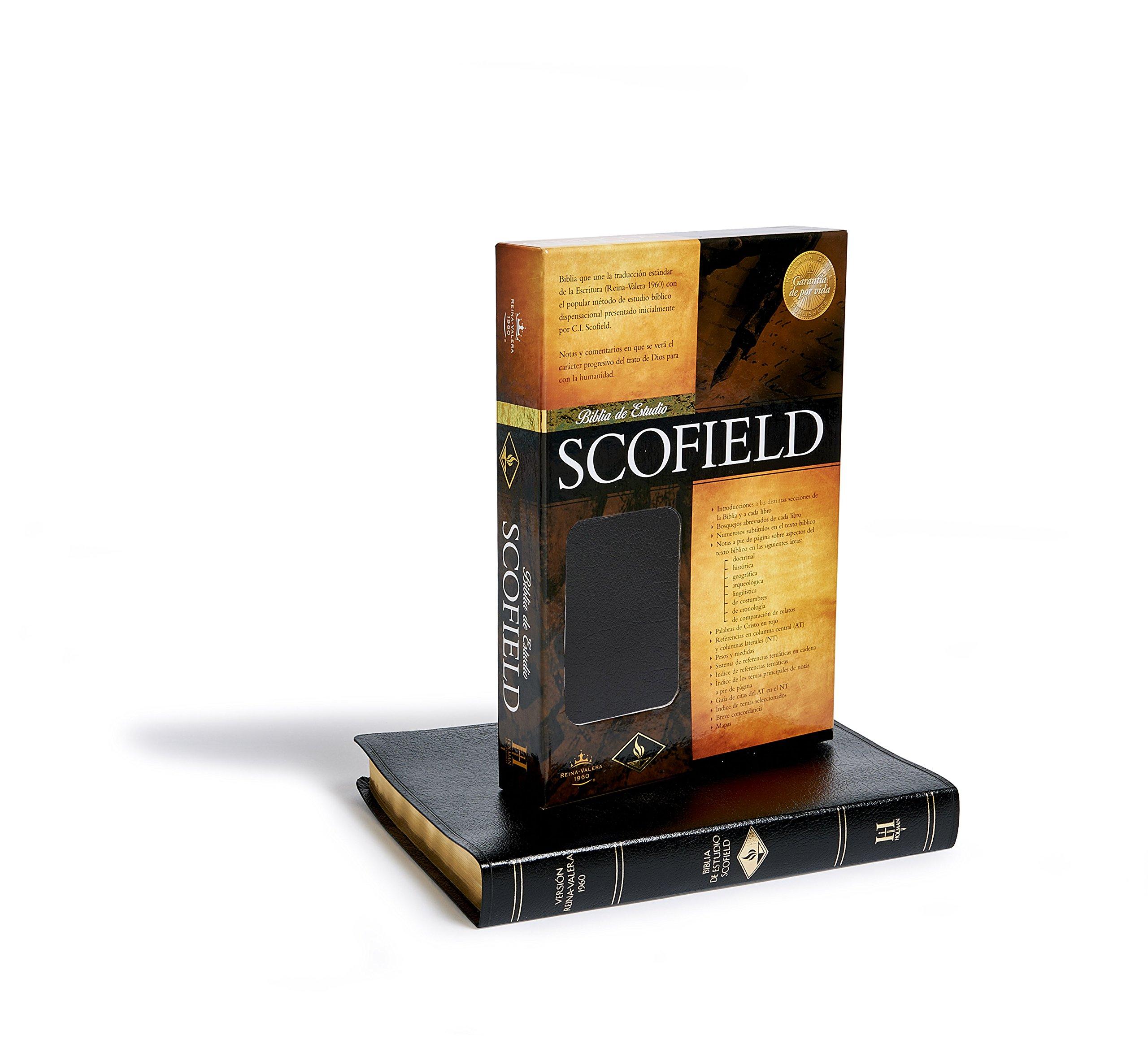 Rv 1960 New Scofield Study Bible (black Bonded Leather) (spanish Edition):  C I Scofield: 9781558198005: Amazon: Books