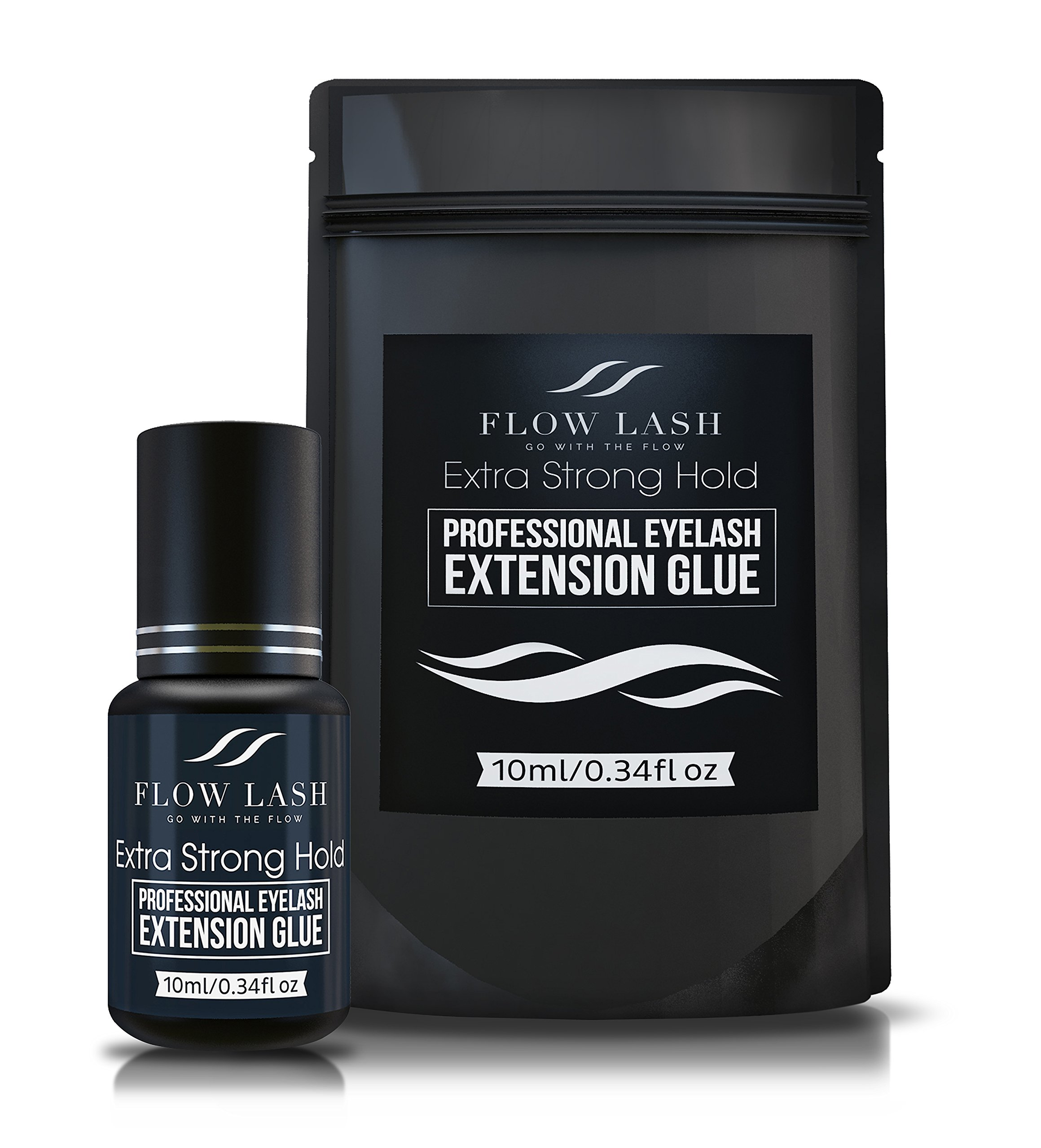 Professional Eyelash Extension Glue - Extra Strong Hold, Long Lasting, Quick Dry Time - Premium Professional Grade Adhesive, Formaldehyde & Latex Free - 10ml by Flow Lash by Flow Lash (Image #3)