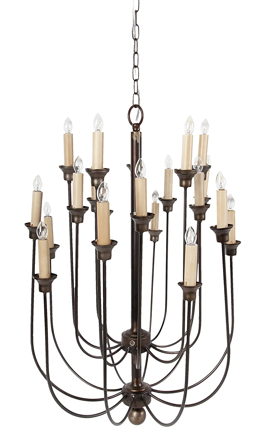 A&B Home 37825 Langley 20 Light Candle Chandelier, 22 by 22 by 29.5-Inch