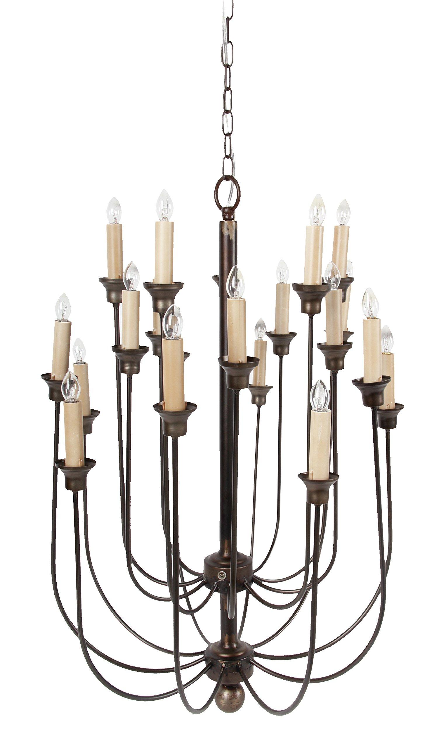 A&B Home 37825 Langley 20 Light Candle Chandelier, 22 by 22 by 29.5-Inch by A&B Home