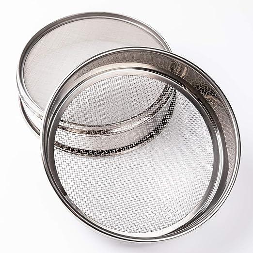 /φ10 /× 4,5 cm 5#(Lochdurchmesser: 5mm) Laborbedarf Edelstahlfilter Edelstahlsieb Tansoole