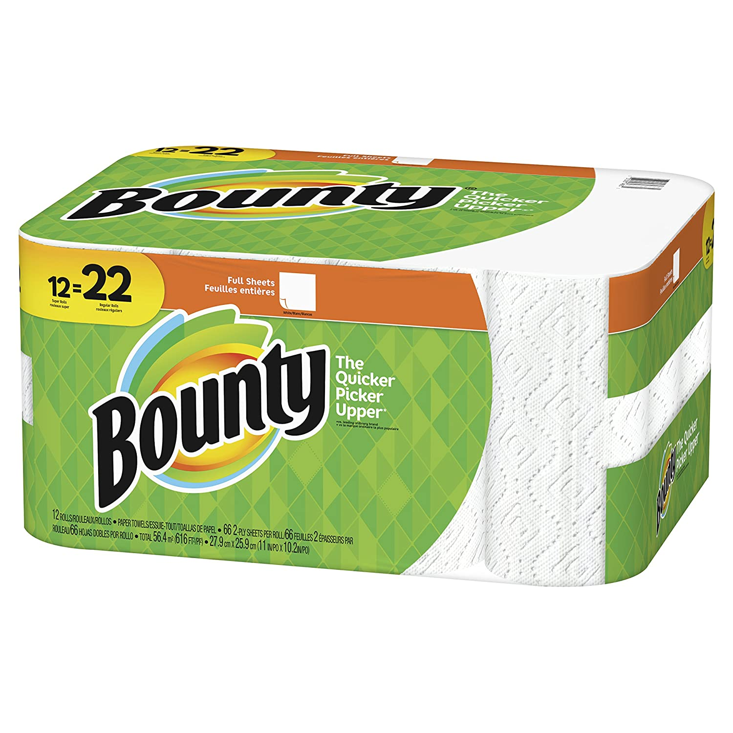 Amazon.com: Bounty Paper Towels, Full Sheet, 12 Super Rolls: Health & Personal Care