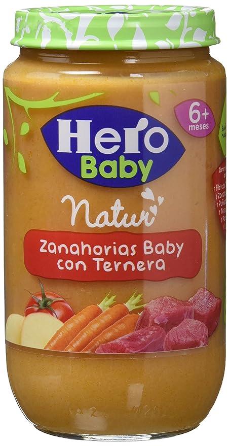 Hero Baby - Zanahorias Baby Delicias De Ternera 235 g -, Pack de 6: Amazon.es: Alimentación y bebidas