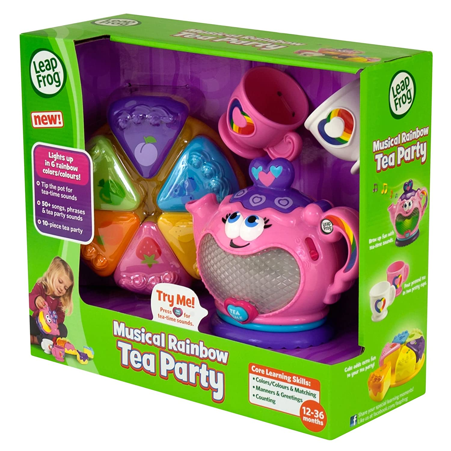 Amazon LeapFrog Musical Rainbow Tea Set Toys & Games
