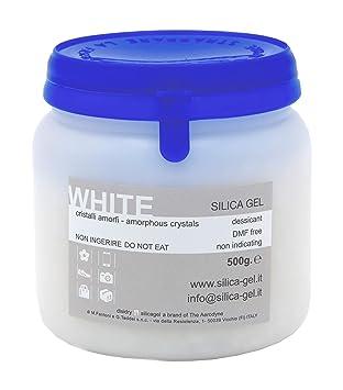 Gel de sílice blanco granular en botella sellada de 500 ...